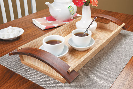 Curved-Handle Serving Tray