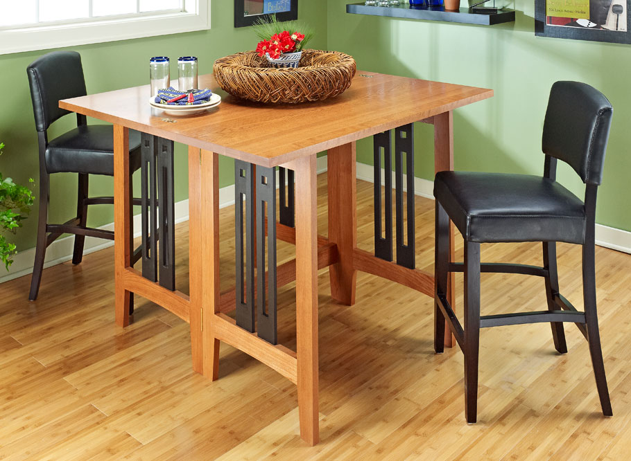 This innovative Craftsman-style design makes better use of space in a dining area.