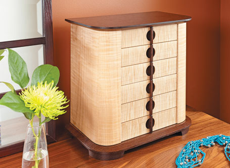 Curved-Door Jewelry Chest