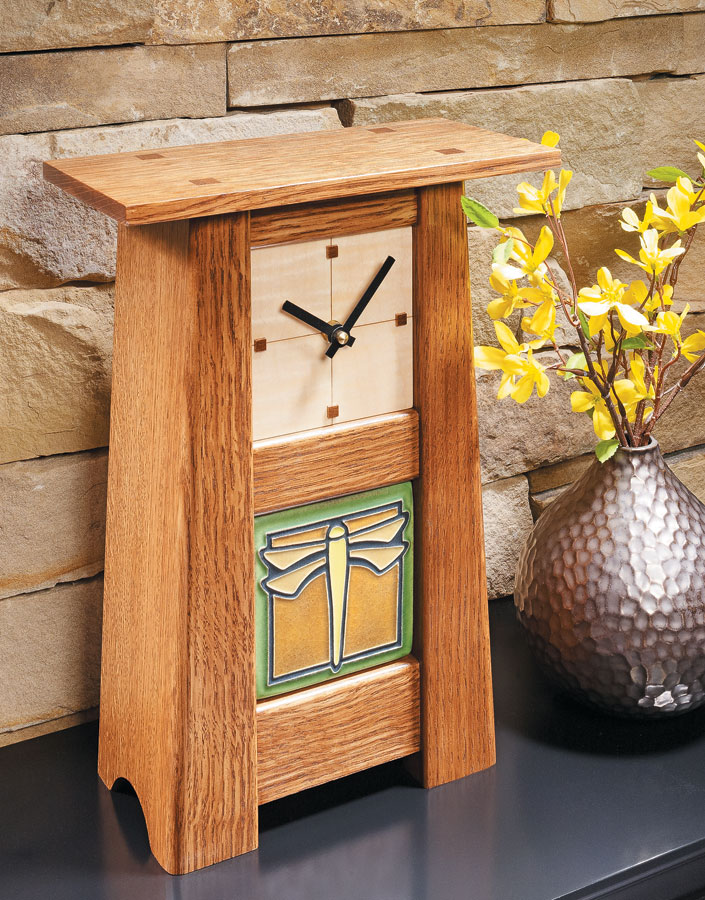 This mantel clock is small in size, but it's sure to be big in appeal.