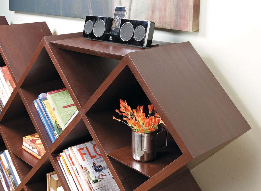Strong, yet easy-to-make joinery and an attractive design combine to create plenty of storage.