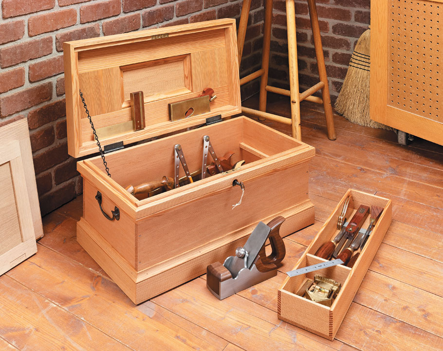 It's hard to beat an original. This is a true-to-detail reproduction of a classic tool chest design.
