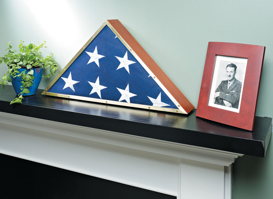 A military-issued flag is an heirloom to be treasured. This case serves as a worthy resting place for a commemoration of service.