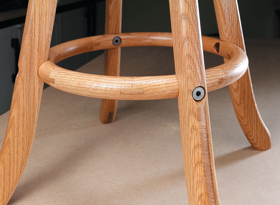 This attractive and sturdy swiveling stool will be the perfect complement to your workbench.