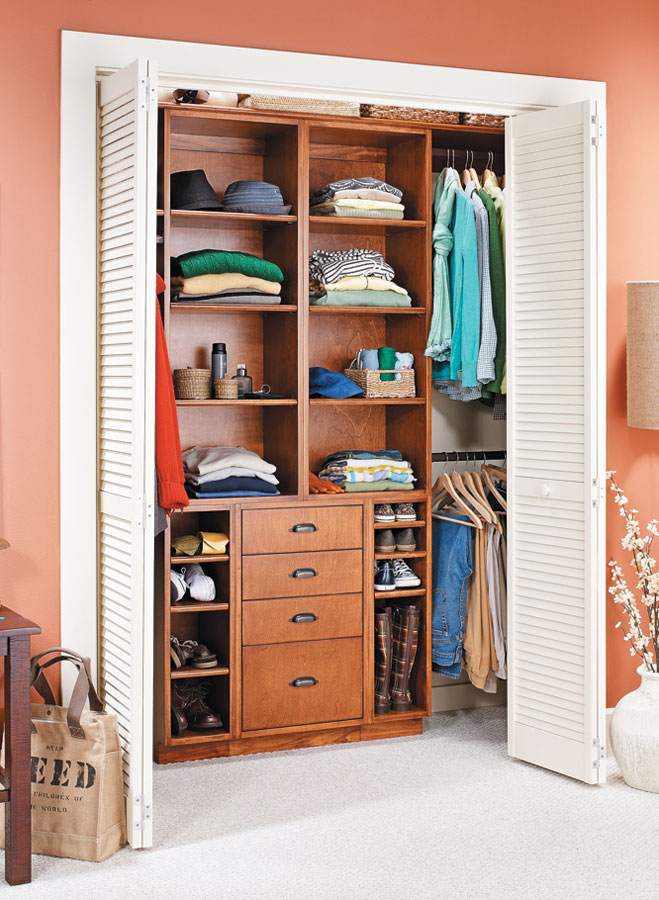 Closet Organizer Woodworking Project Woodsmith Plans