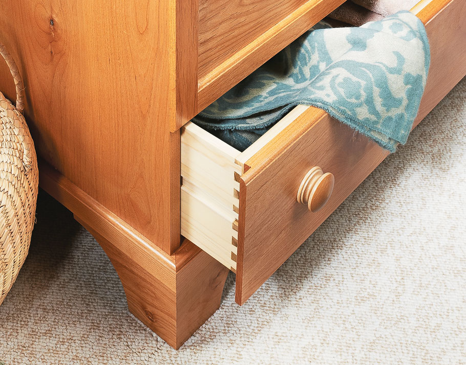 Once you look past the clean lines, attractive details, and beautiful wood, you'll discover the great storage options this chest provides.