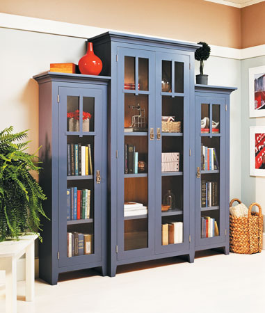 Step-Back Bookcase