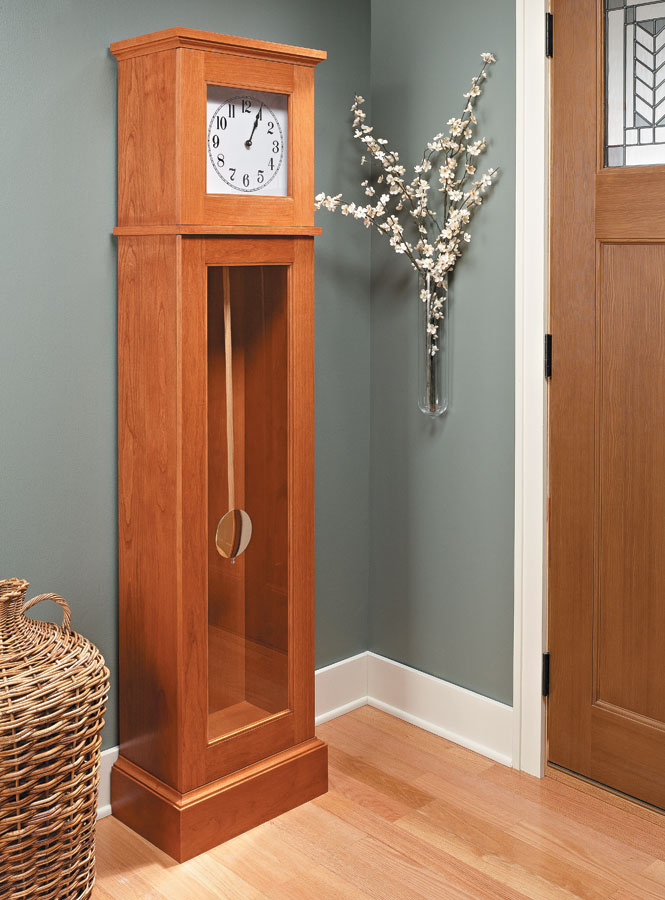 A down-to-earth design and basic construction make building this elegant case clock a sure thing.
