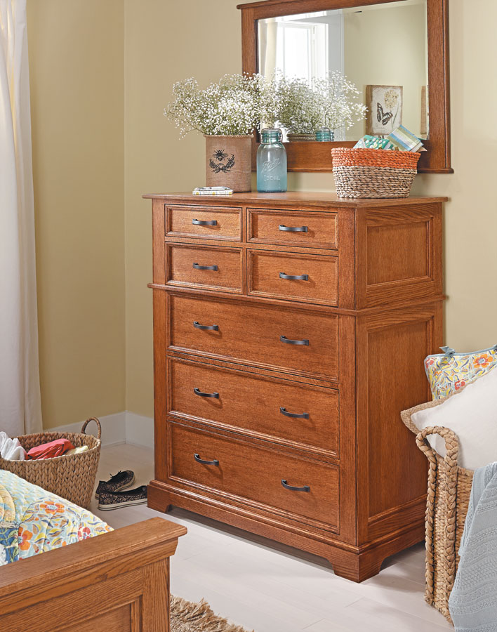 Bedroom Set Oak Dresser Woodworking Project Woodsmith Plans