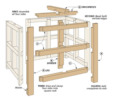 This practical project is sure to be a fun test of your joinery skills and attention to detail. Using it will be even more enjoyable.