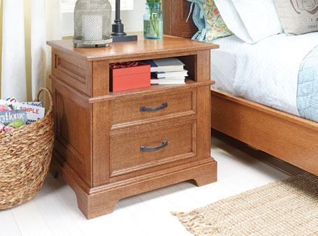 Bedroom Set: Oak Nightstand