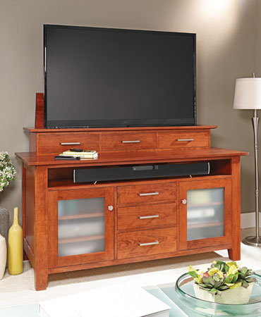 Flat-Screen TV Lift Cabinet
