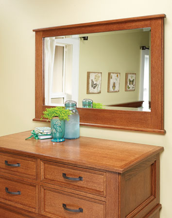 Bedroom Set: Oak Bedroom Mirror