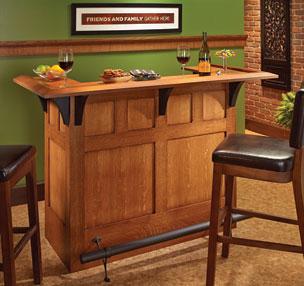 Craftsman-Style Bar