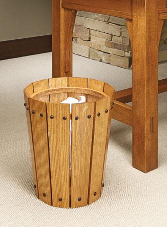 Craftsman-Style Wastepaper Basket