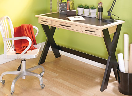 Stylish Sawbuck Desk