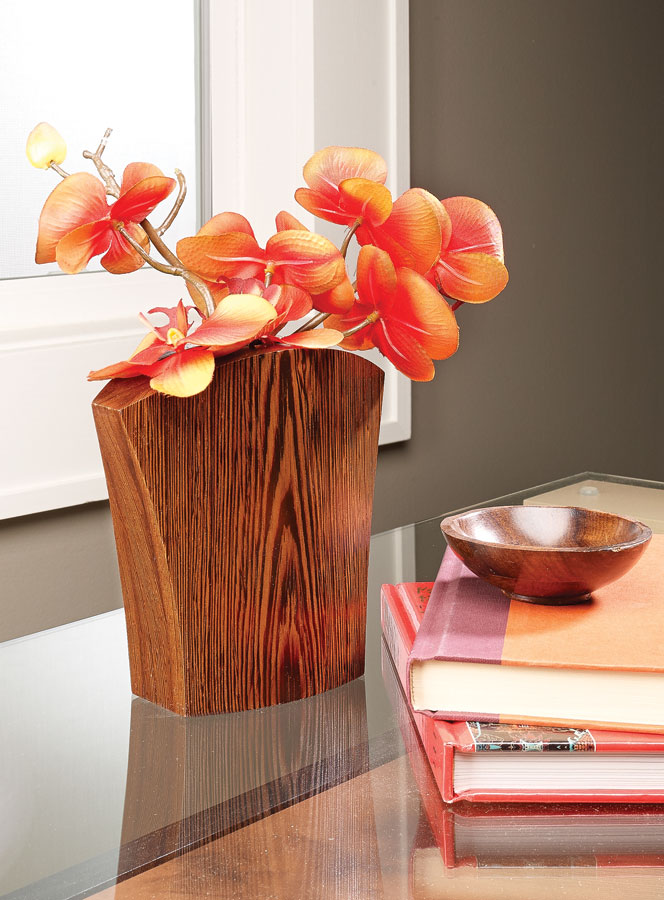 Have a prized piece of wood you're looking to use? You can make this vase with just a few cuts at the band saw.