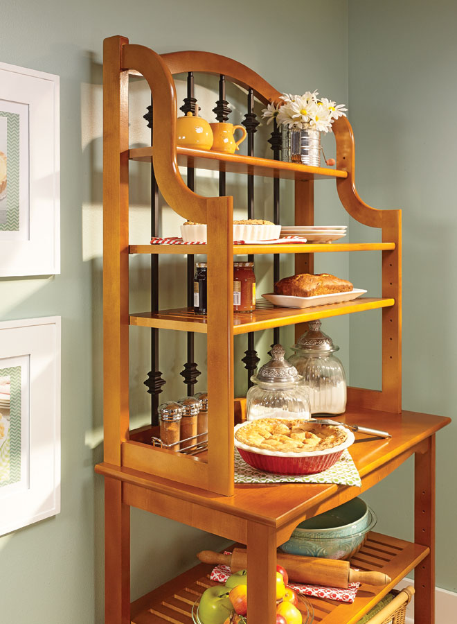 Traditional Baker S Rack Woodworking Project Woodsmith Plans