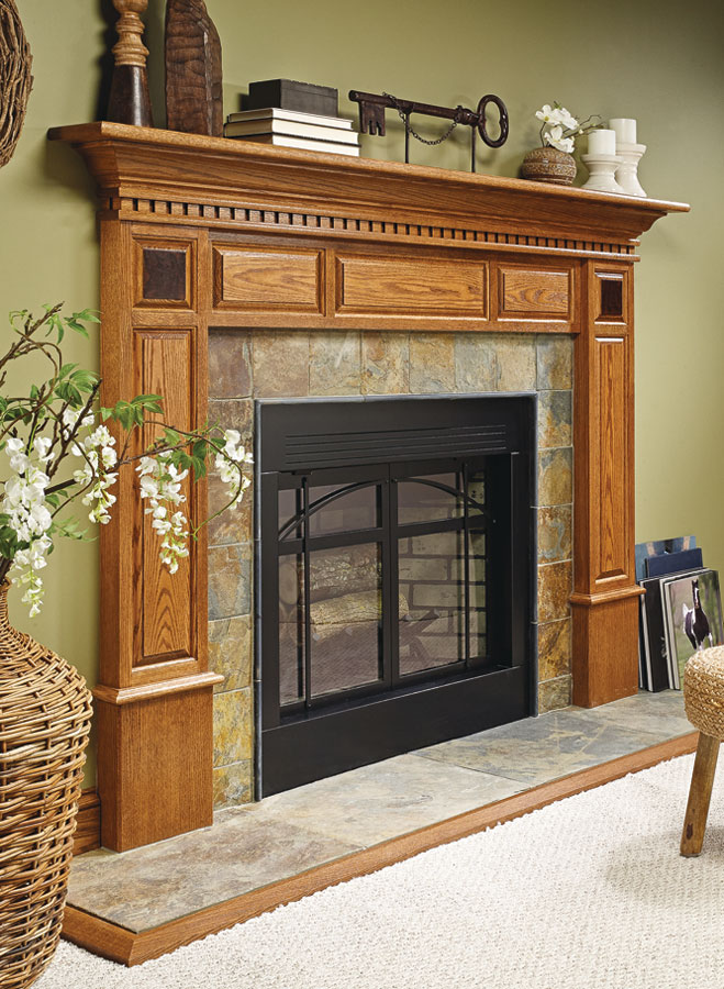 Fireplace Surround | Woodworking Project | Woodsmith Plans