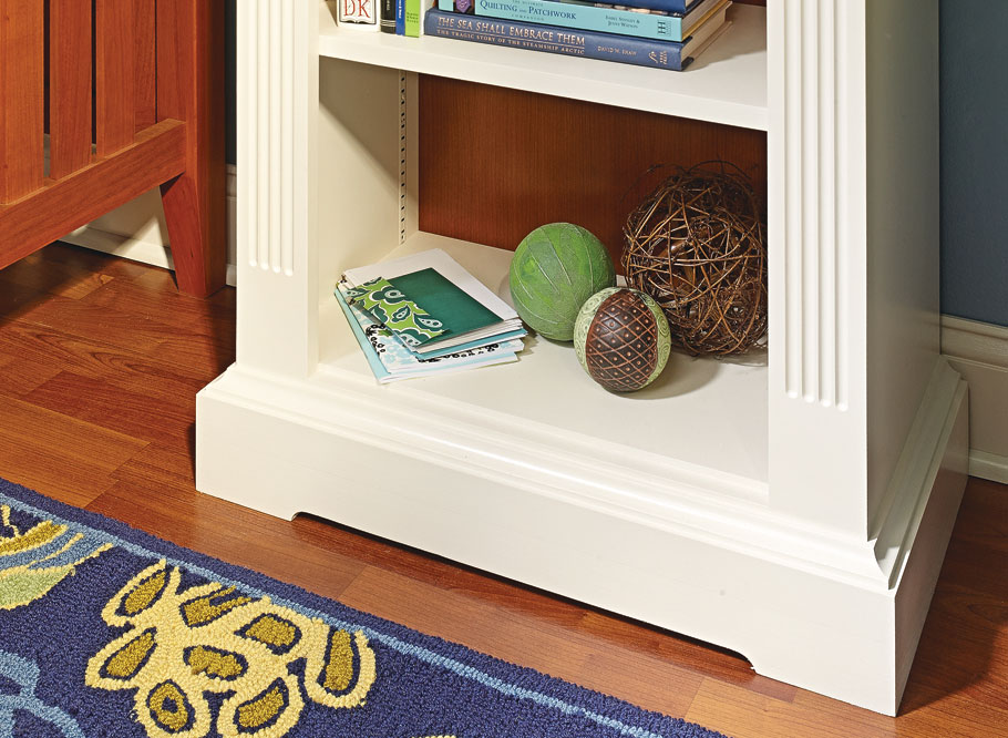 Featuring a classic look with plenty storage, this two-tone finished bookcase is sure to look at home in almost any room in the house.