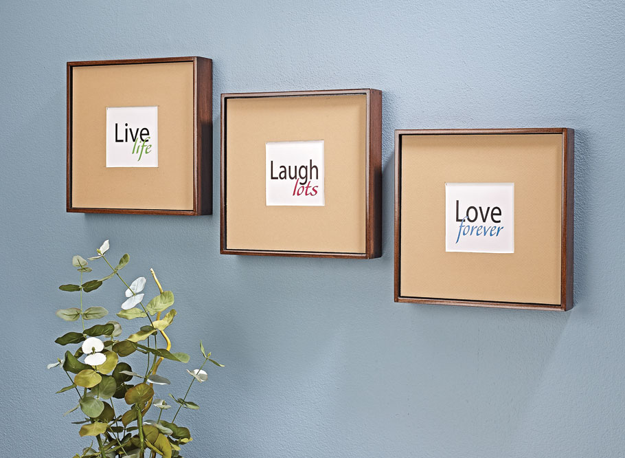 Display your favorite photographs elegantly with these shadow-box style picture frames.