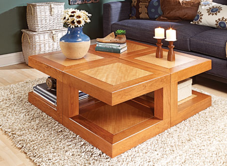 4-Square Coffee Table