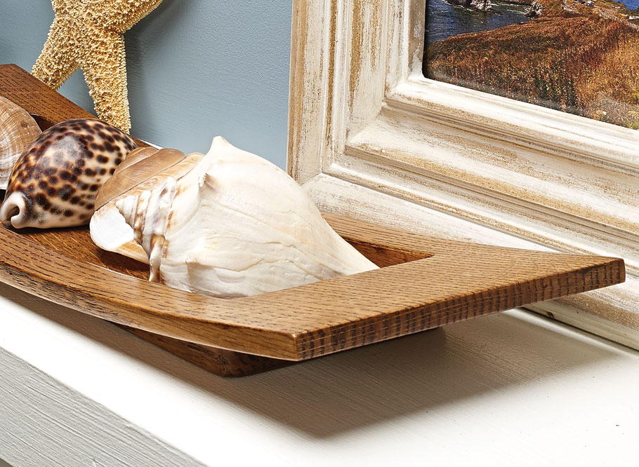 Whether it's built as a gift project or for your own home, this gently sweeping curved tray is sure to look great with any decor.