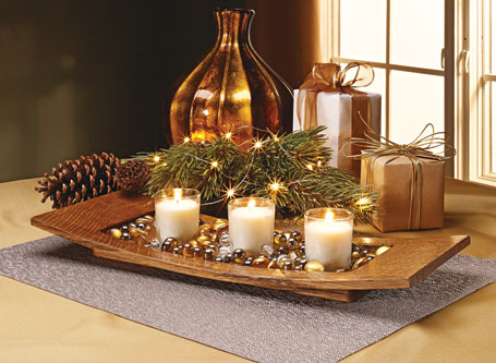 Curved Tray Centerpiece