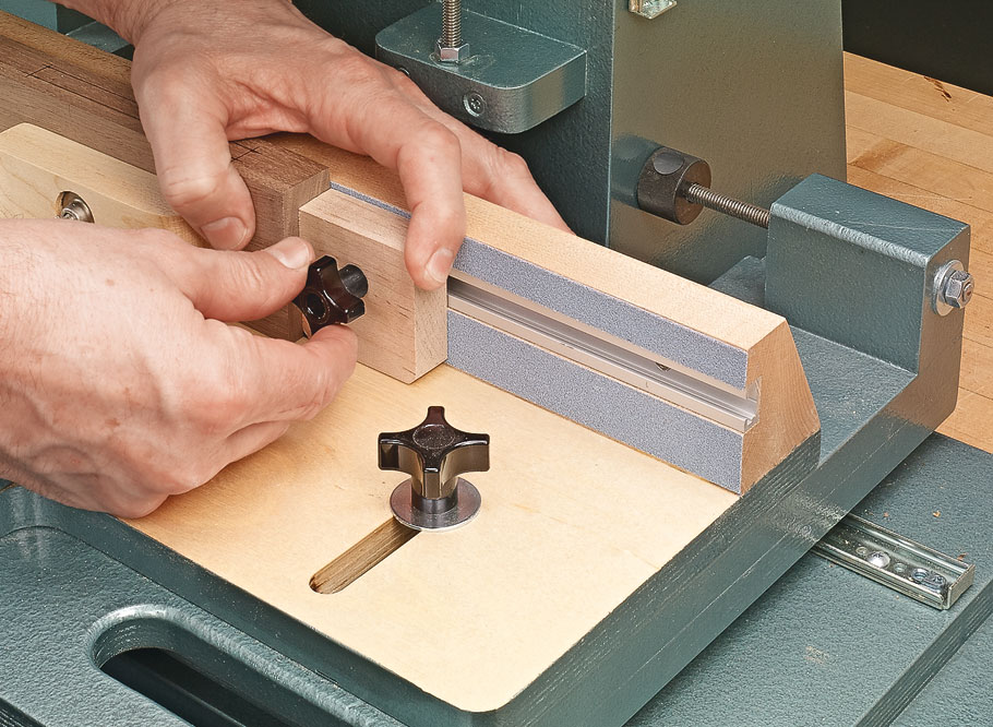 You can be creating precision mortises in no time using your router's motor and this handy shop-built machine.
