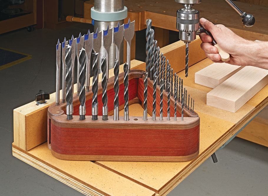 Store your most-used drill bits in style with this modern take on a classic storage device.