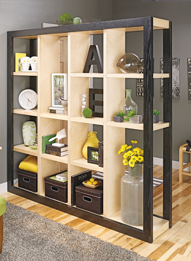 It's simple to create a boundary between living spaces with this stylish storage unit. Plus, the design will complement any décor.