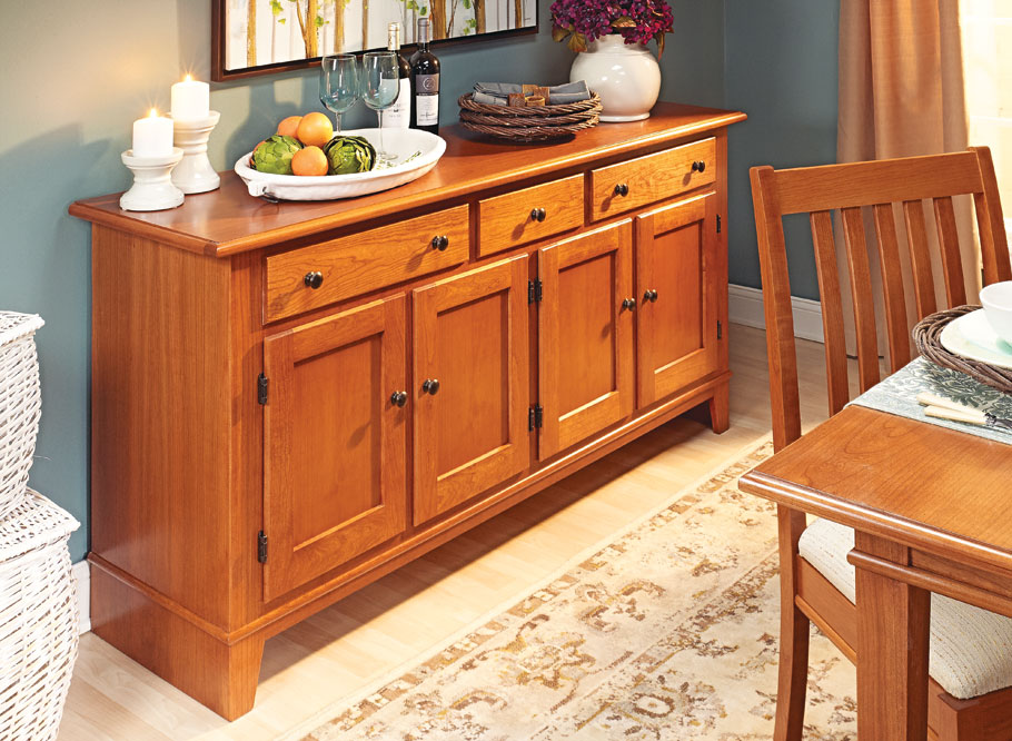 This stylish buffet lends ample storage and a large serving area for all your gatherings.