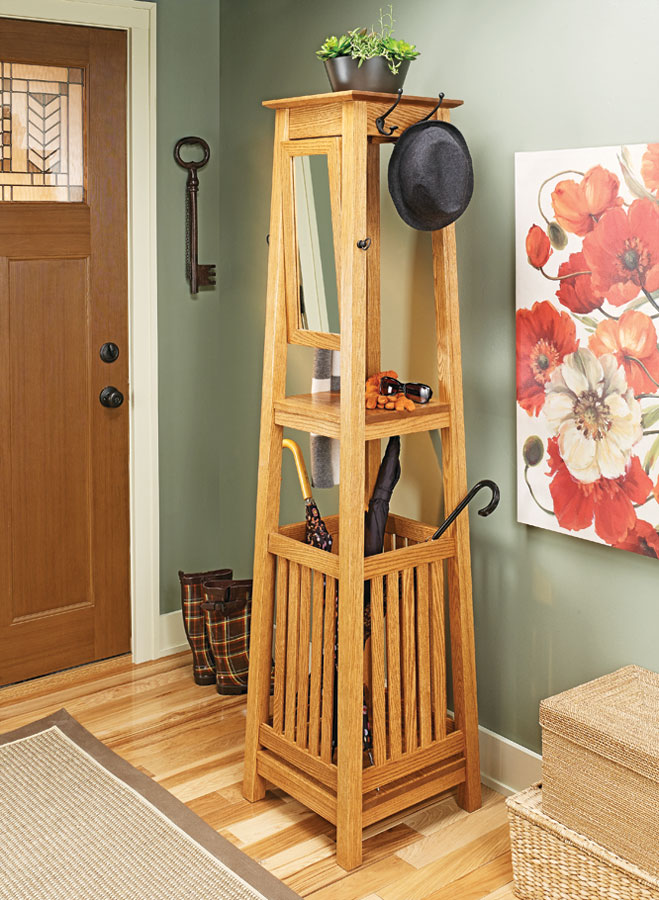 Hall Tree Woodworking Project Woodsmith Plans