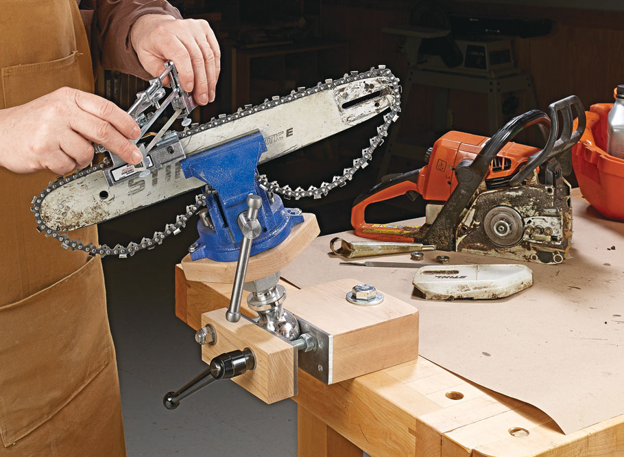 Position a workpiece exactly where you need it with this versatile vise. The quick-change design allows for mounting multiple accessories.