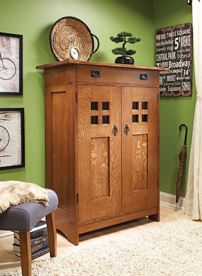 Quartersawn white oak and Craftsman design elements combine to create this handsome addition to any room's décor.