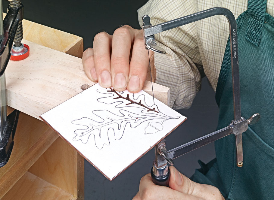 This box is an eye-catching project all on its own, but the metal inlay pattern on the lid makes it even better.
