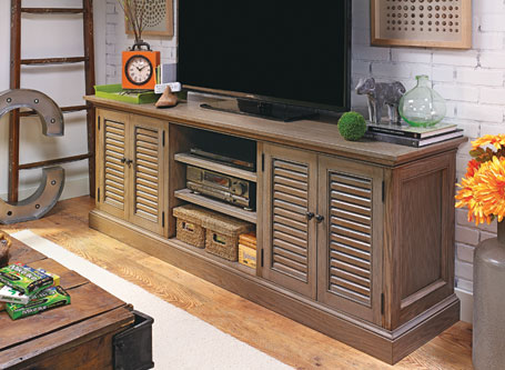 Louvered-Door TV Console