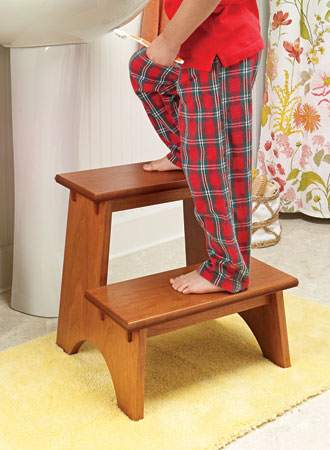 Classic Cherry Step Stool