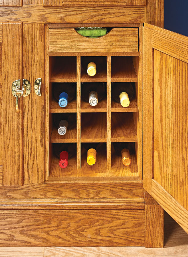 This vintage cabinet stands ready to supply cold drinks for your next soiree, and timeless construction makes it a pleasure to build.