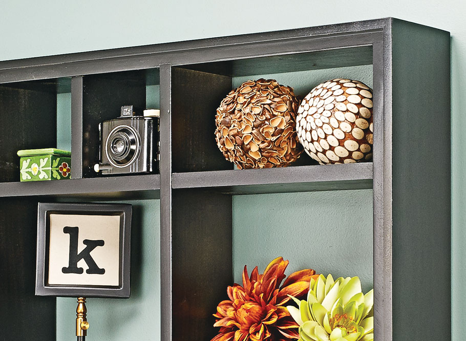 Create a home for all of your treasures with this easy-to-build shelf unit. The adjustable shelves make customizing the arrangement a breeze.