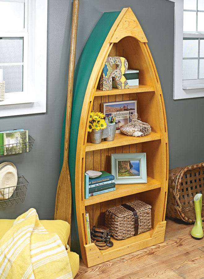 With a unique design, the bookcase is fun to build and sure to be a conversation piece in your home.