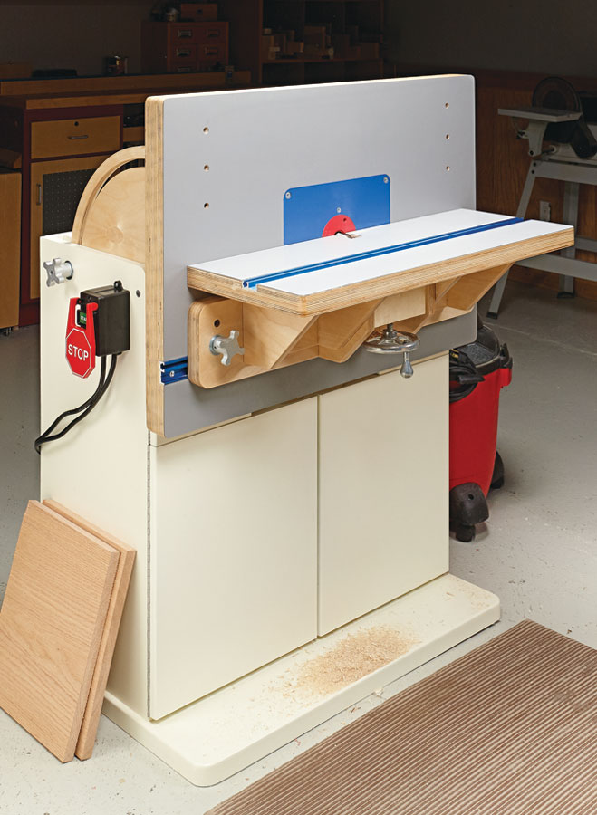 A flip-up top adds a new angle to table routing. The result is a unique, two-in-one workstation for the ultimate in shaping and joinery.