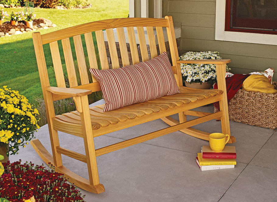 With its solid construction and elegant design, this rocker is sure to be the most relaxing project you have ever built.