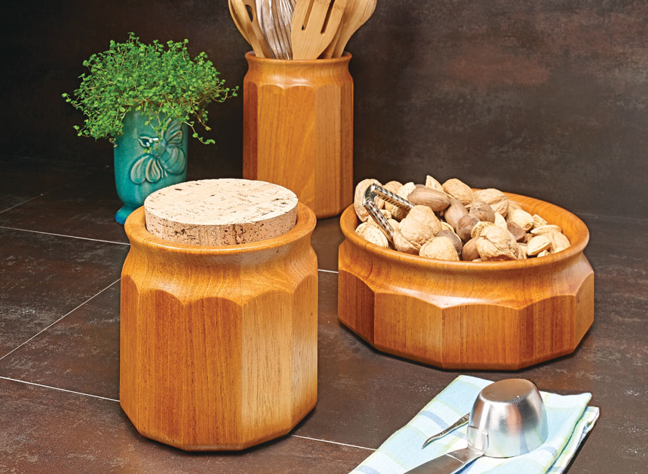 Used for storage or as a table centerpiece, this set of containers is the perfect project to give as a gift or display in your home.