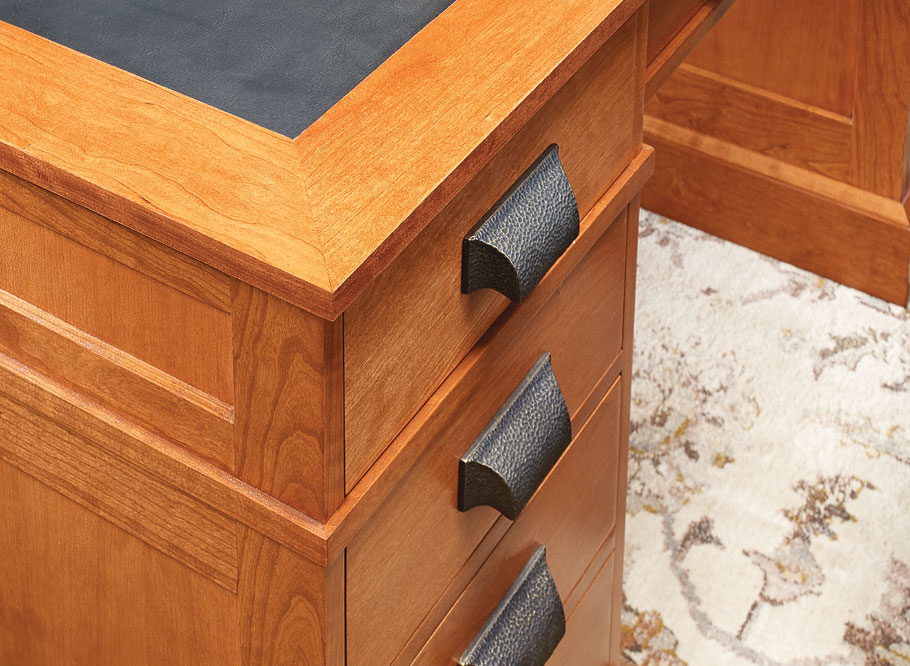 It's tough to top tradition, and that's certainly the case with this desk. This heirloom design gives a modern home office both style and function.