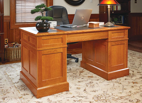 Cherry Pedestal Desk