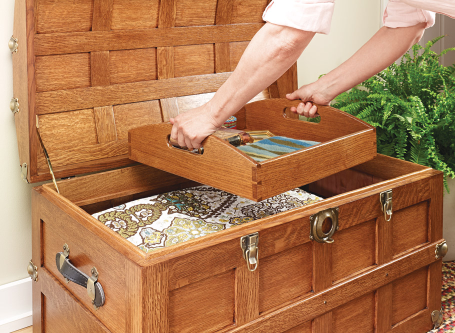 Domed-Top Steamer Trunk | Woodworking Project | Woodsmith Plans