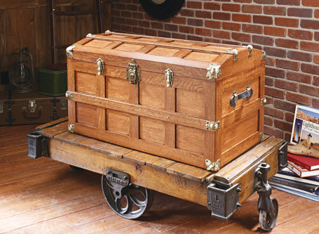 Domed-Top Steamer Trunk