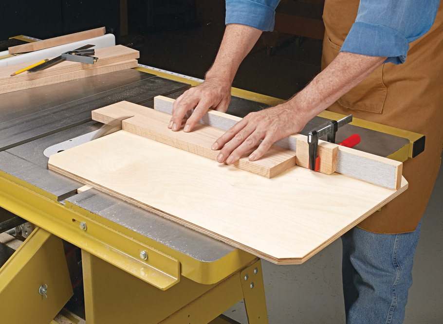 A simple, well-built table saw sled is an essential shop jig that will result in repeatable and accurate cuts every time.