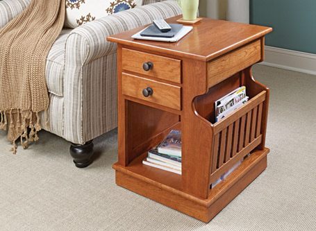 Sliding Top End Table